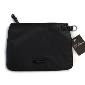 Cole Haan Black 'Kyle' Zip Cosmetic Travel Pouch